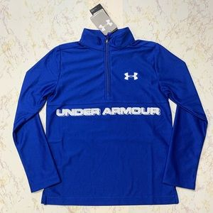Under Armour Boys' Blue 1/2 Zip Pullover